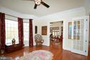 Main lvl Library w/French Doors and Pocket Doors - 4200 PINERIDGE DR, ANNANDALE