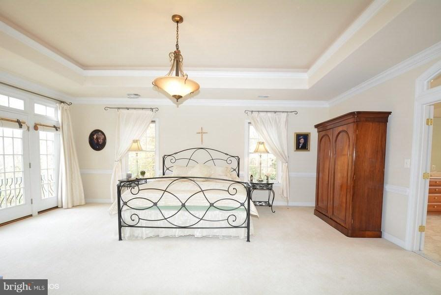 Master BR w/tray ceiling, cove lighting, Balcony - 4200 PINERIDGE DR, ANNANDALE