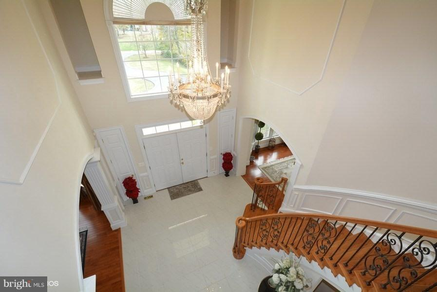 View Overlooking Entry Foyer - 4200 PINERIDGE DR, ANNANDALE