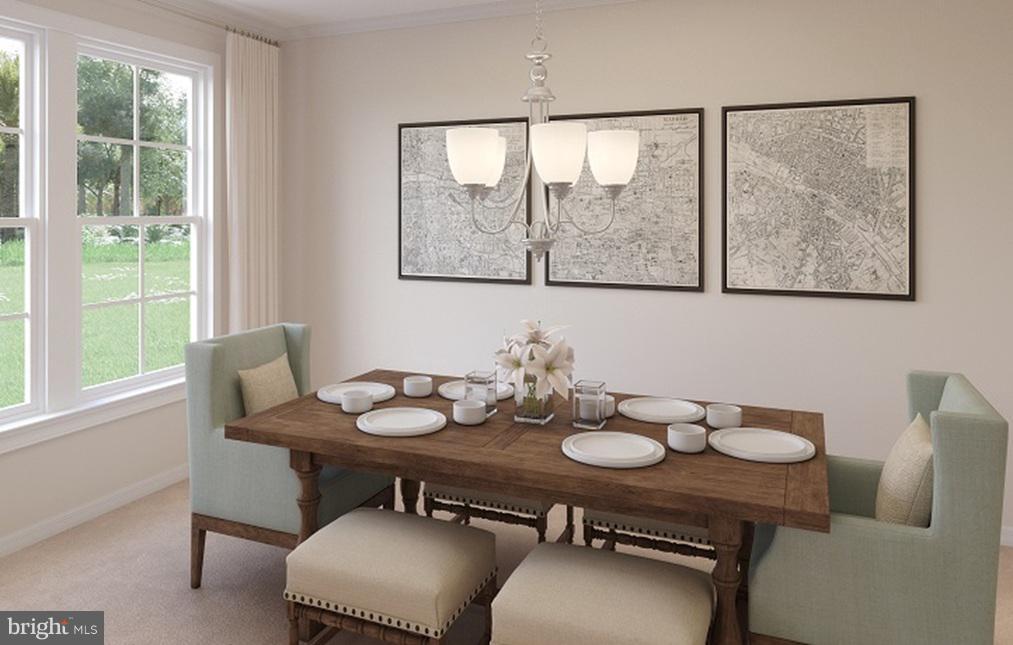 Dining Room- Model Home - 21 SHERMANS RIDGE RD, STAFFORD