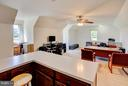 Lots of natural light in the office. - 35086 HARRY BYRD HWY, ROUND HILL