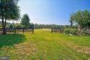 Front yard fenced in board and wire. - 35086 HARRY BYRD HWY, ROUND HILL