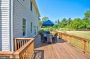 Deck connects to family room and sun porch. - 35086 HARRY BYRD HWY, ROUND HILL