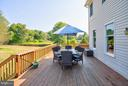 Spacious deck for indoor/outdoor living. - 35086 HARRY BYRD HWY, ROUND HILL