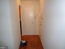Welcoming foyer with closet - 2500 VAN DORN ST N #124, ALEXANDRIA