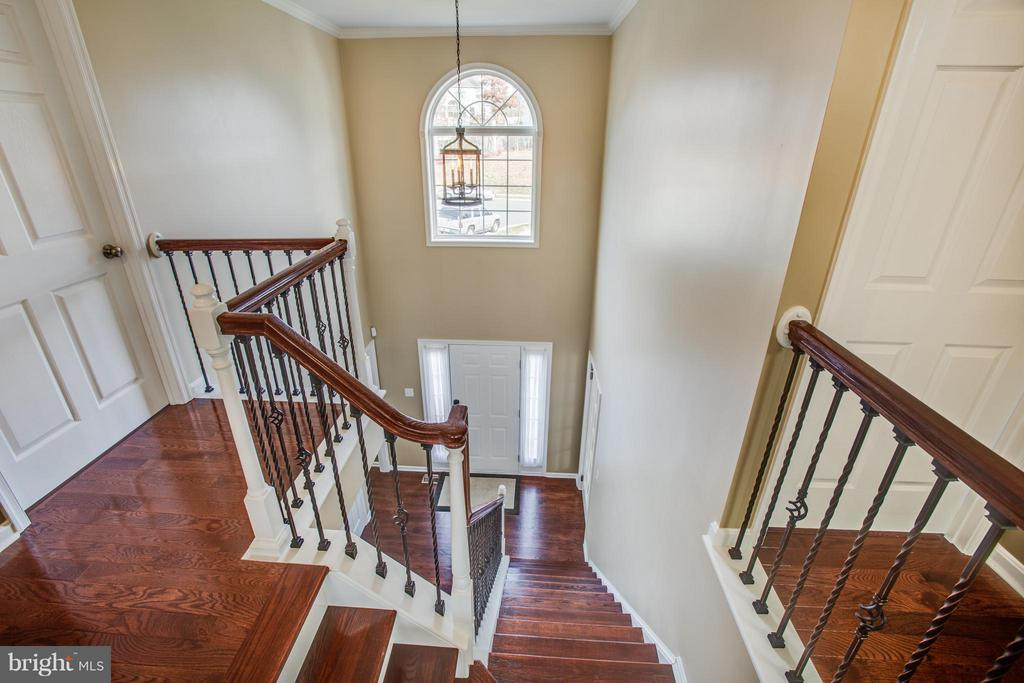 And  up stairs plus wrought iron baluster accent - 81 FOUNTAIN DR, STAFFORD