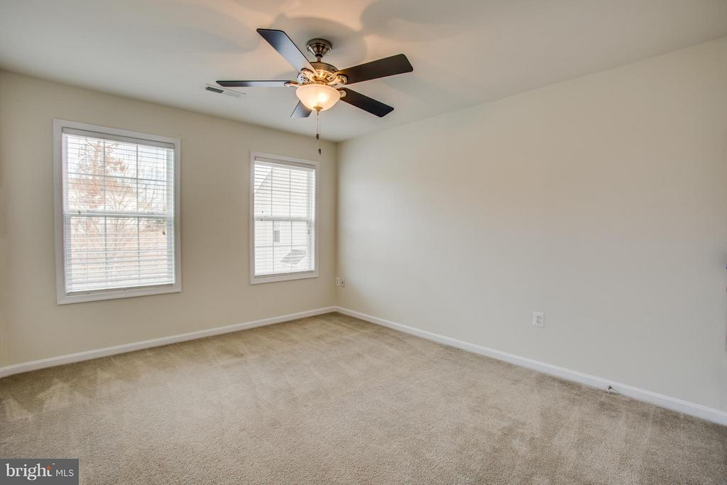 Second bedroom with view of private wooded area - 81 FOUNTAIN DR, STAFFORD