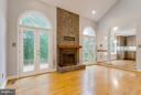 Light Filled Family Room with 2nd Fireplace - 10637 AVONDALE DR, MANASSAS