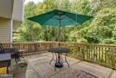 custom deck backs to trees - 15612 PLAIN DEALING PL, MANASSAS