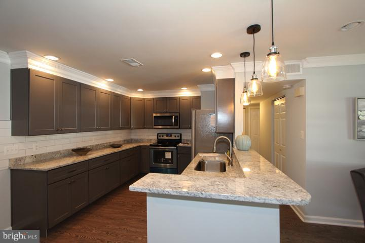 Newly renovated kitchen-it's stunning! - 702 DICKENSON CT, STERLING