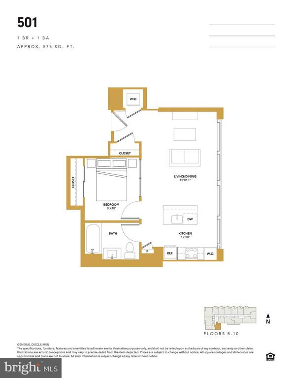 Unit 501- Floorplan - 1300 4TH ST SE #501, WASHINGTON