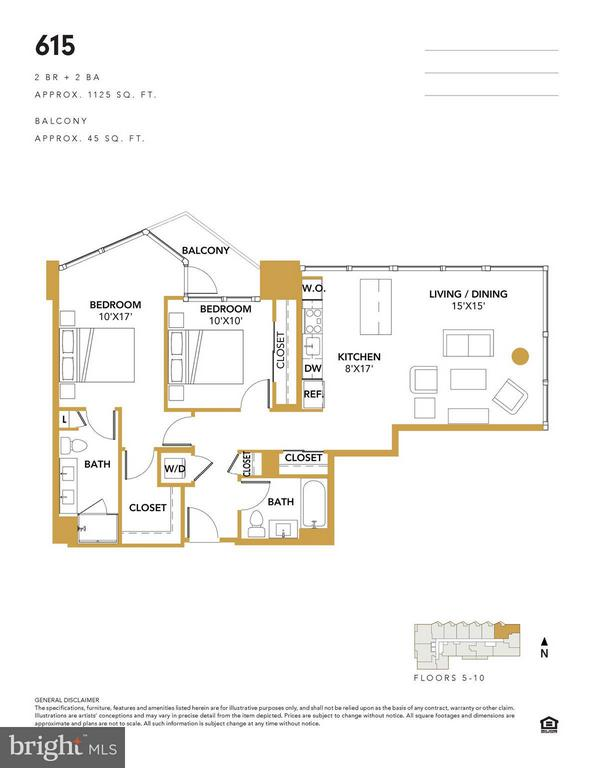 Unit 615- Floorplan - 1300 4TH ST SE #615, WASHINGTON