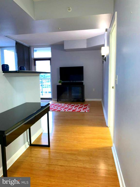View of studio from the foyer - 851 GLEBE RD #1312, ARLINGTON