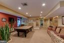 Finished recreation room - 6412 TINKLING SPRINGS CT, MANASSAS