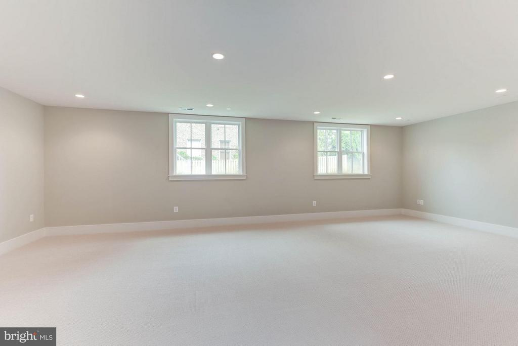 Large rec room w/ full windows - 3801 N RIDGEVIEW RD, ARLINGTON