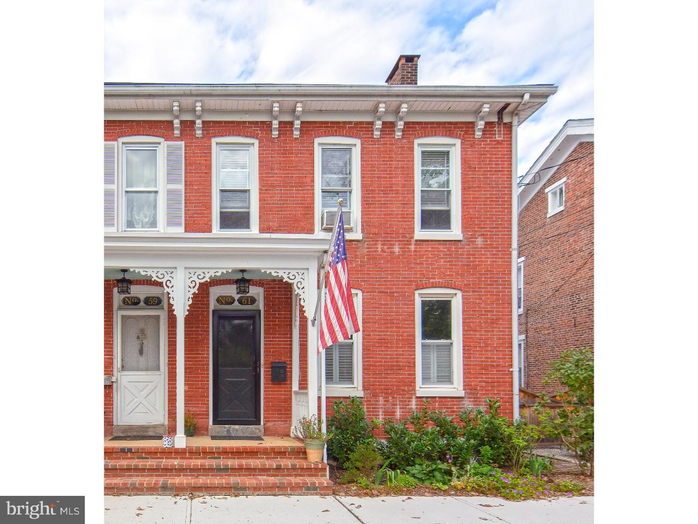 Single Family Home for Sale at 61 CLINTON Street Lambertville, New Jersey 08530 United StatesMunicipality: Lambertville
