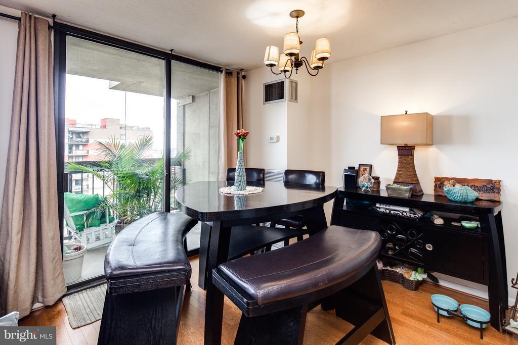 Dining area open to kitchen - 400 MADISON ST #1505, ALEXANDRIA
