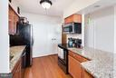 Open kitchen with island - 400 MADISON ST #1505, ALEXANDRIA