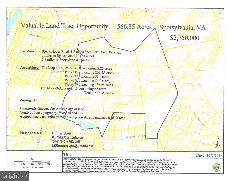 أراضي للـ Sale في Partlow, Virginia 22534 United States