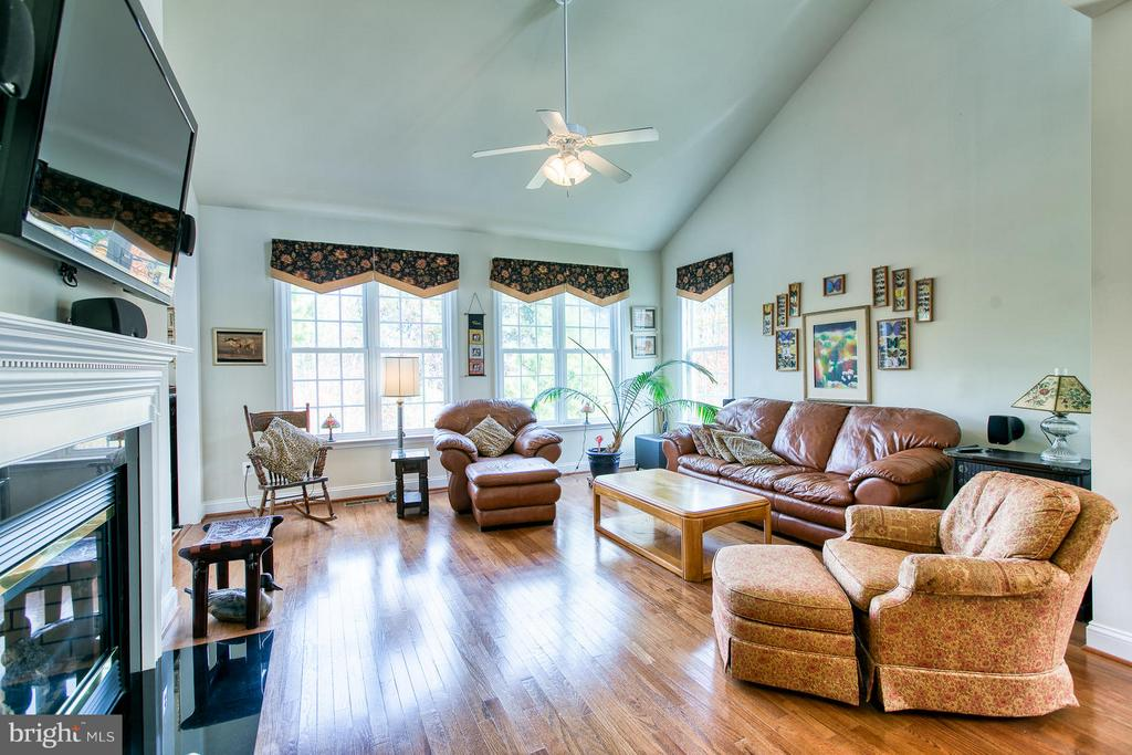 Family Rm w/gas FP.  TV & Surround Sound Convey - 9791 BIG BETHEL CIR, FREDERICKSBURG