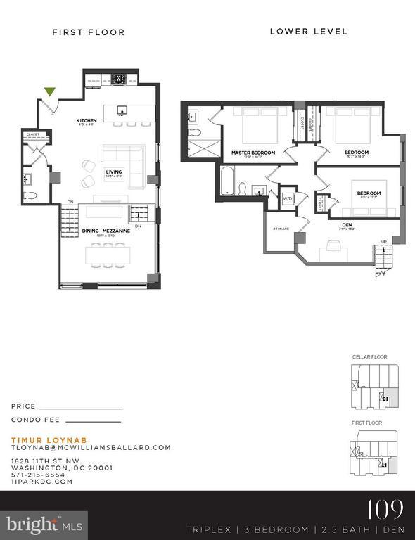 Floor Plan - 1628 11TH ST NW #109, WASHINGTON