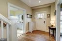 Elegant foyer with hardwoods throughout - 5709 NEVADA AVE NW, WASHINGTON