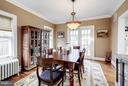 Dining room with French doors leading to backyard - 5709 NEVADA AVE NW, WASHINGTON