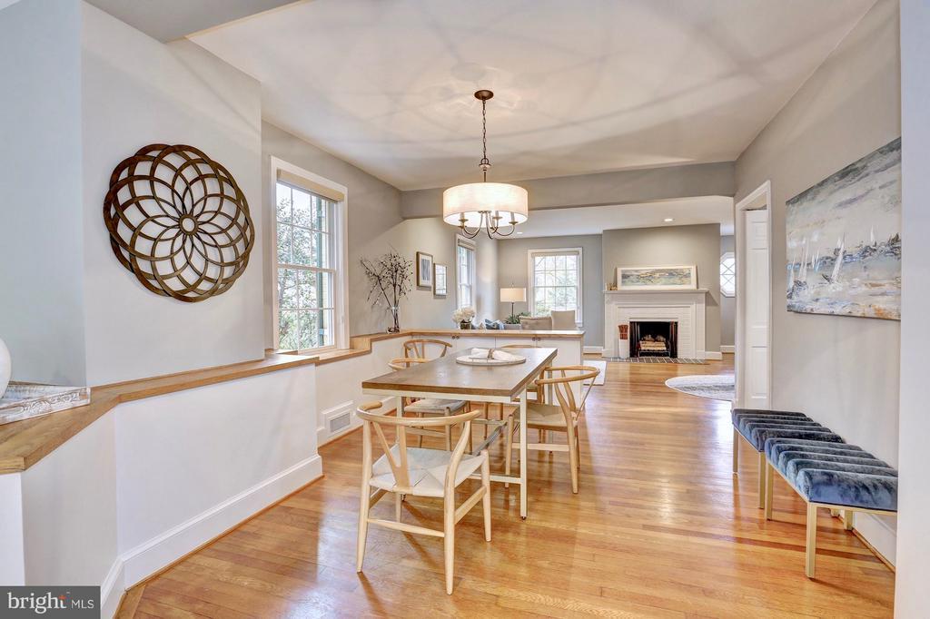 New light fixture creates a cozy dining area - 6613 32ND ST NW, WASHINGTON