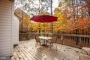 Deck off breakfast area - great view - 11708 S OXBOW CT, FREDERICKSBURG