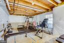 Unfinished basement (partly used as a gym) - 11708 S OXBOW CT, FREDERICKSBURG