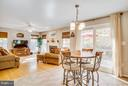 Open from the kitchen to the family room - 11708 S OXBOW CT, FREDERICKSBURG