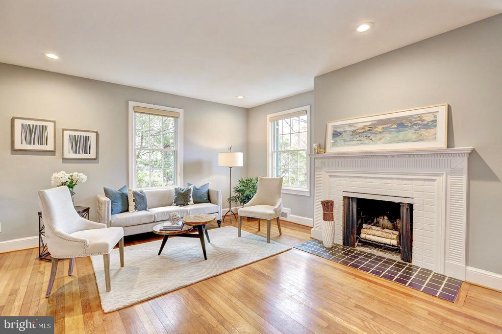 Rich details in fireplace mantle and tile work. - 6613 32ND ST NW, WASHINGTON