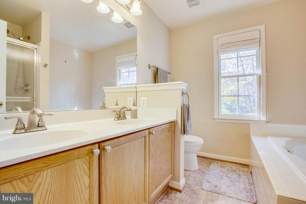 Master bath with separate tub and shower - 11708 S OXBOW CT, FREDERICKSBURG