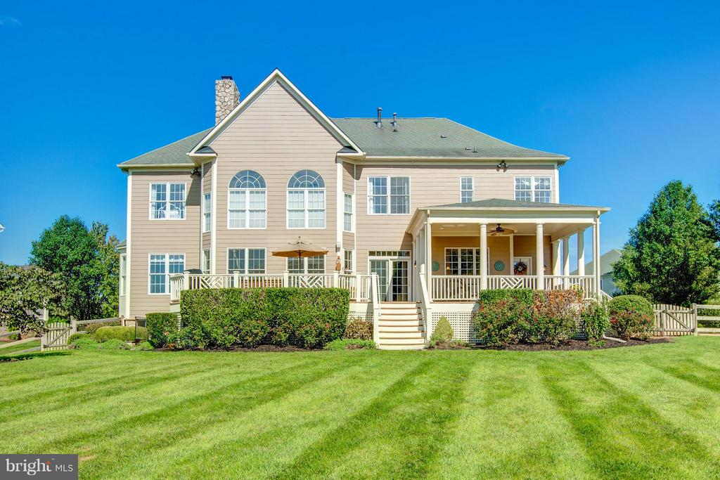 Expansive Deck & Porch Backing to Open Space - 16628 ELK RUN CT, LEESBURG