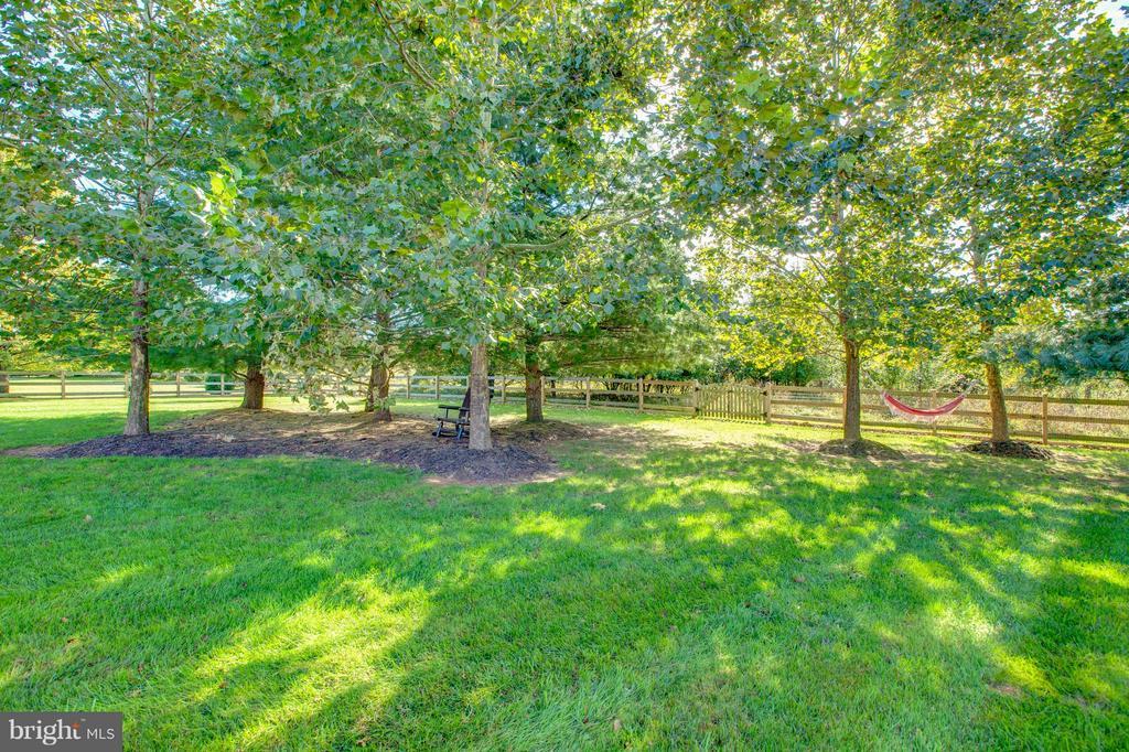 Fenced Yard and mature Landscape - 16628 ELK RUN CT, LEESBURG