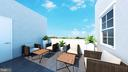 Rendering of potential future rooftop deck - 508 PRINCE ST, ALEXANDRIA