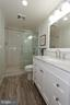 Lower level renovated full bathroom - 19319 HARMONY CHURCH RD, LEESBURG