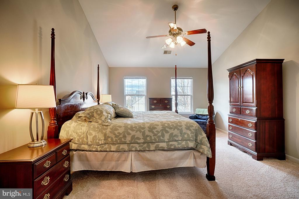 Spacious Master Bedroom with vaulted ceiling - 43189 CARDSTON PL, LEESBURG