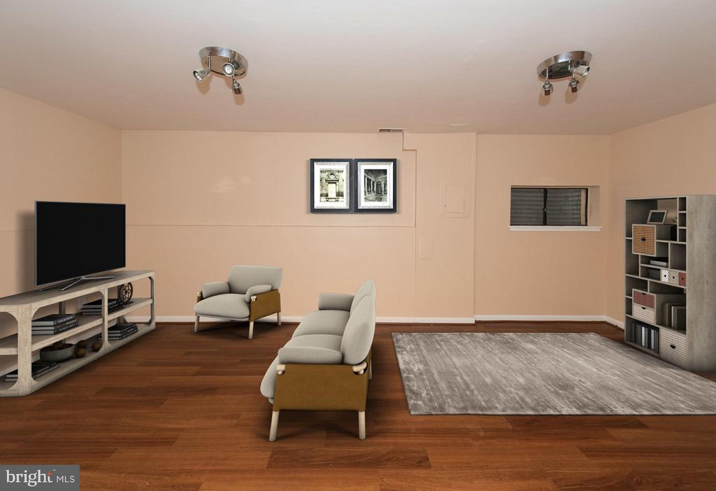 Entertain away in this spacious basement - 2358 SOFT WIND CT, RESTON