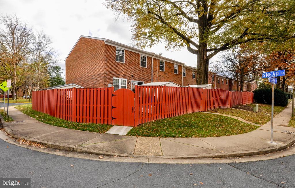 Street View - Back of Home - Spacious End Unit - 2800 HOGAN CT, FALLS CHURCH