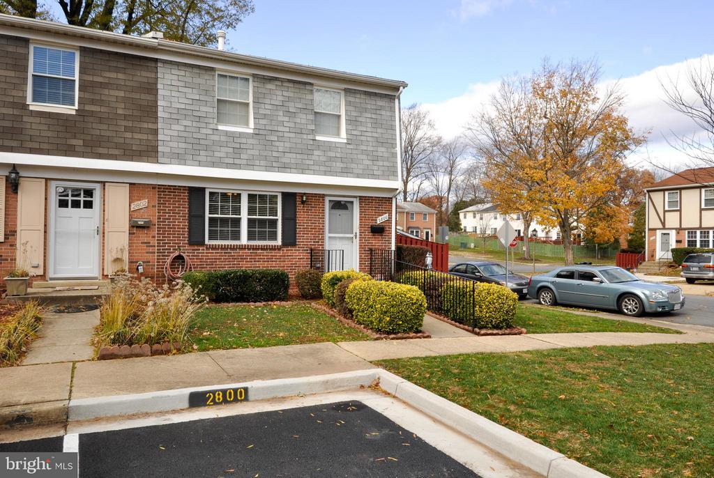 Front  Home View with Reserved Parking Space - 2800 HOGAN CT, FALLS CHURCH