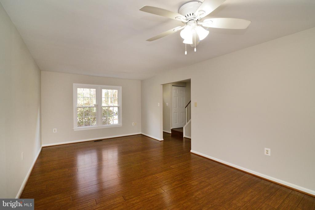 Living Room - Look at those BAMBOO Floors! - 11924 GLEN ALDEN RD, FAIRFAX