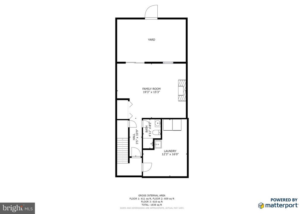 Lower Level 2D Floorplan - 11924 GLEN ALDEN RD, FAIRFAX