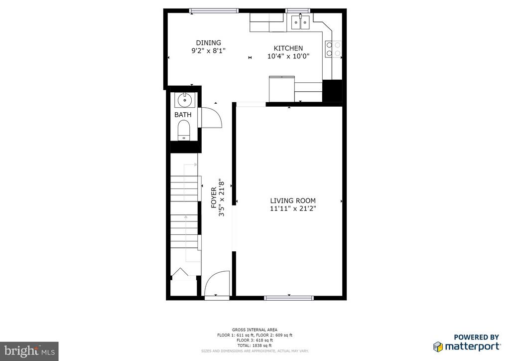Main Level 2D Floorplan - 11924 GLEN ALDEN RD, FAIRFAX