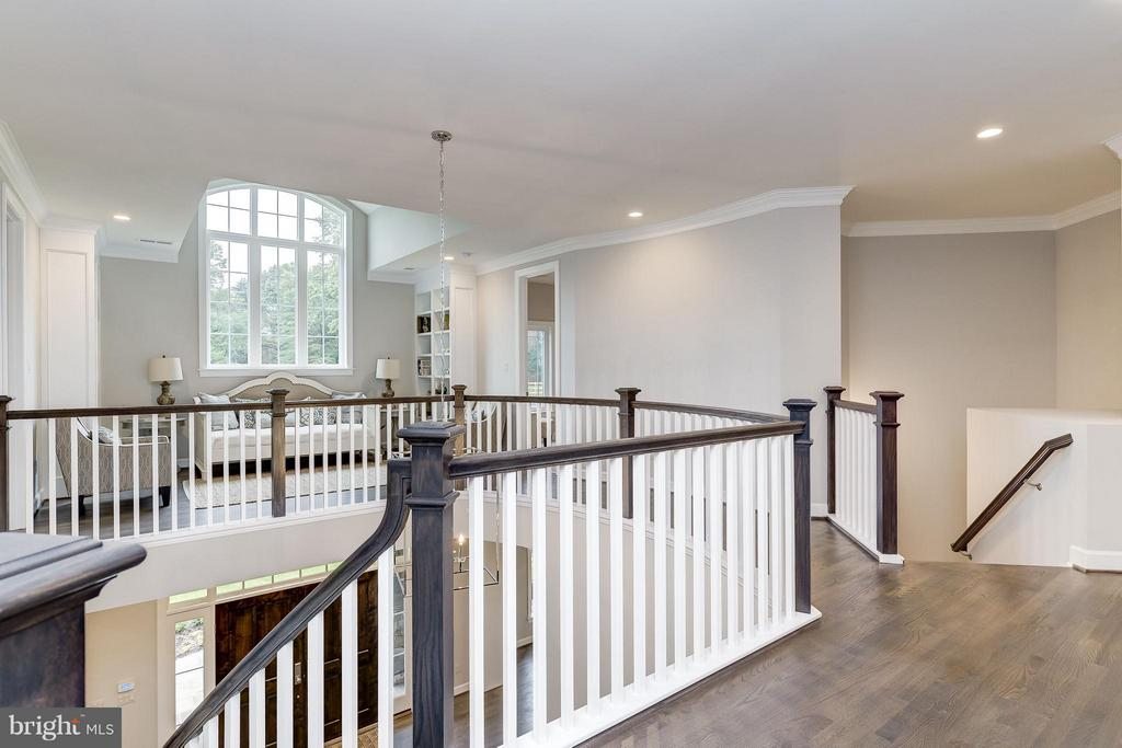 Upper level dramatic views and loft area - 2551 VALE RIDGE CT, OAKTON
