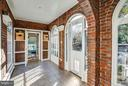 Wonderful breezeway with doors to both patios! - 814 CORNELL ST, FREDERICKSBURG