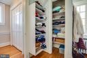 Master walk in closet - 814 CORNELL ST, FREDERICKSBURG