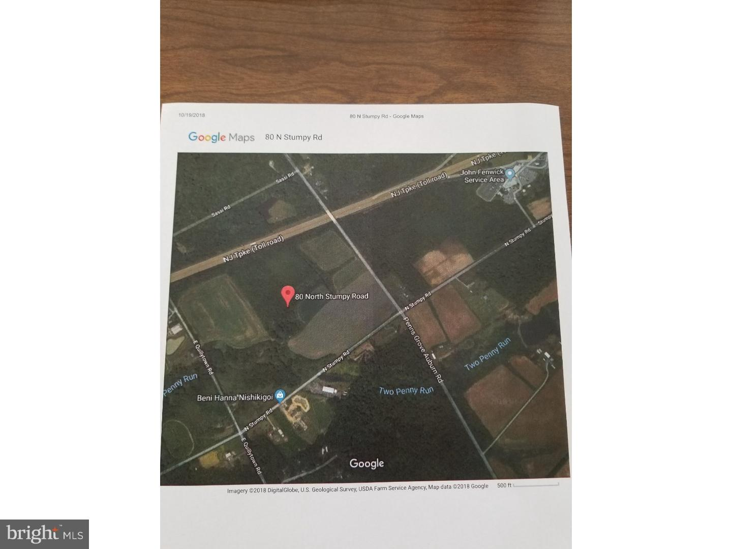 Land for Sale at 80 N STUMPY Road Carneys Point, New Jersey 08069 United States