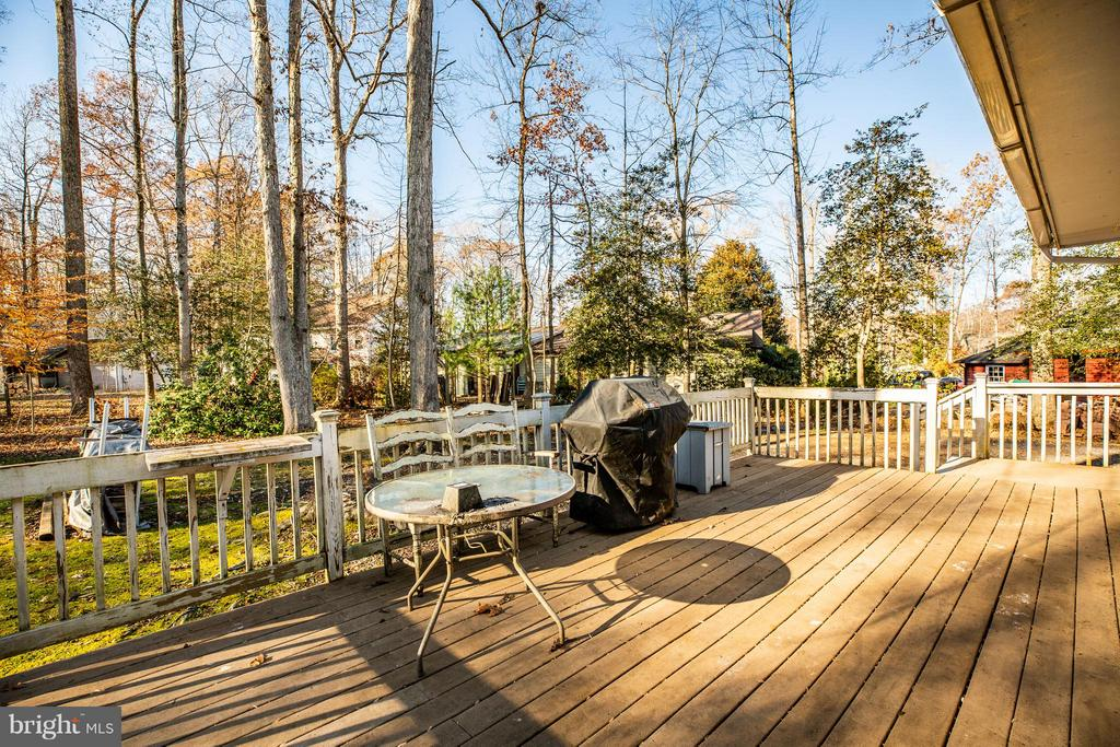 Large rear deck with entrance from master - 111 CONFEDERATE CIR, LOCUST GROVE