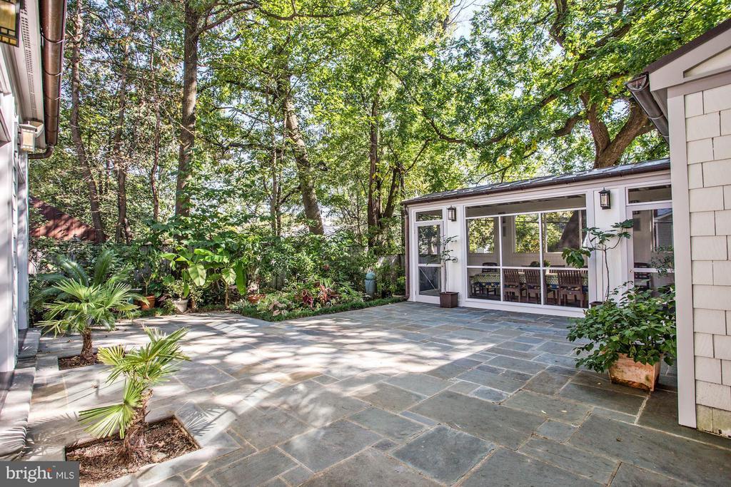 Landscaped patio - 3822 LIVINGSTON ST NW, WASHINGTON